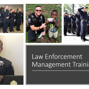 Law enforcement management online training