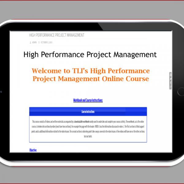 best project management certification course