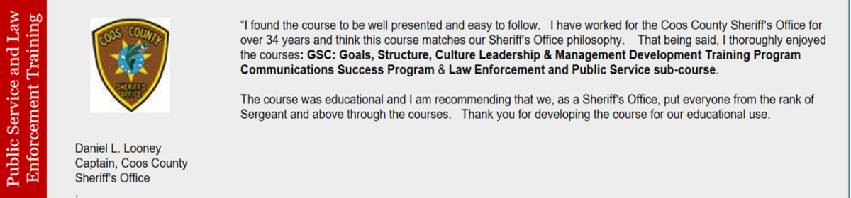 Law Enforcement and Public Service Leadership and Management Online ...